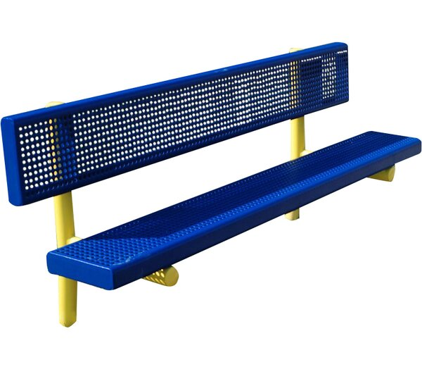 Steel Park Bench by Kidstuff Playsystems, Inc.