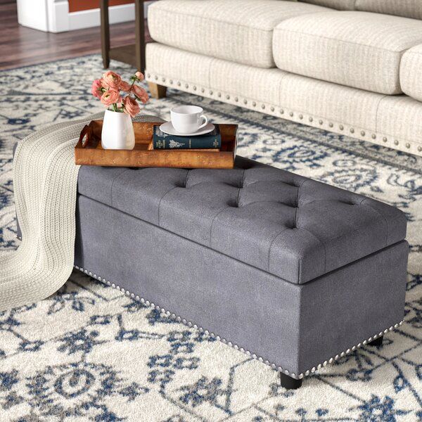 Arehart Tufted Storage Ottoman By Three Posts
