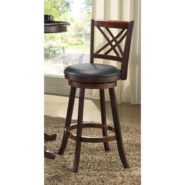 Distressed 24 Swivel Bar Stool (Set of 2) by ECI Furniture