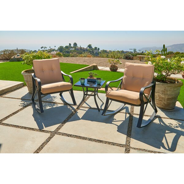 Outdoor 3 Piece Bistro Set With Cushions By SUNCROWN