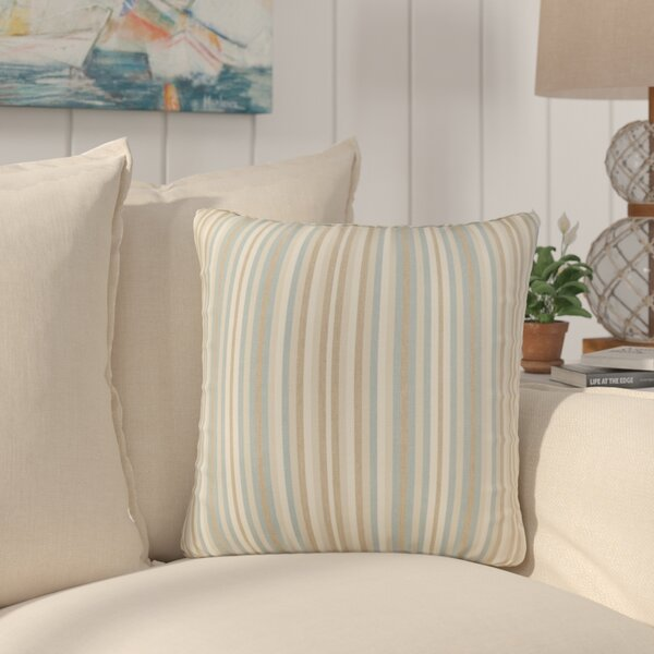 Livia Stripe Indoor/Outdoor Sunbrella Throw Pillow (Set of 2) by Longshore Tides