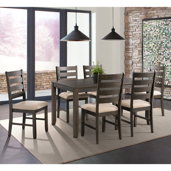 Rushton 7 Piece Solid Wood Dining Set by Gracie Oaks