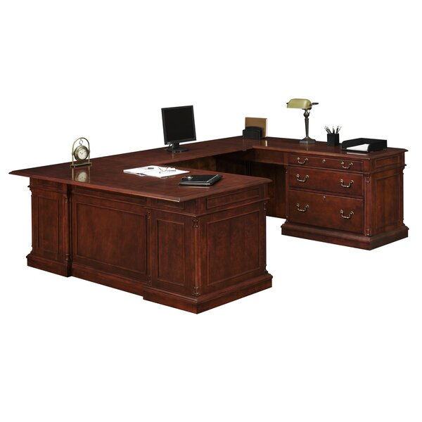 Prestbury U-Shape Executive Desk by Darby Home Co