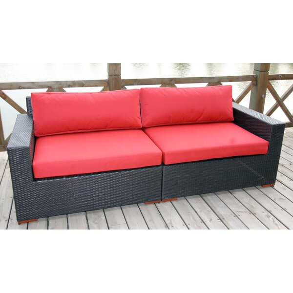 Scholtz Deep Seating Sofa with Cushions by Bay Isle Home