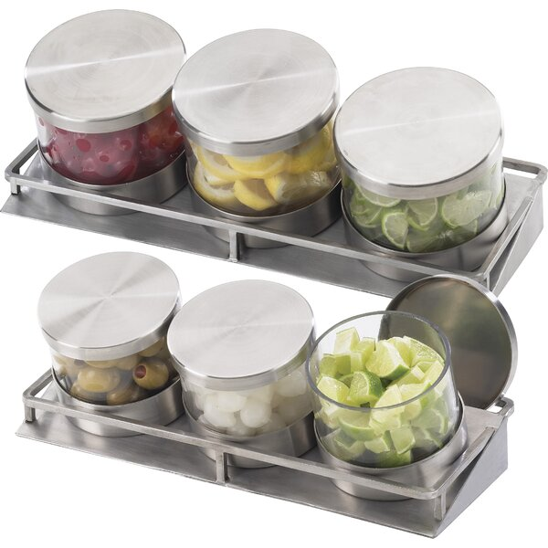 Mixology 3 Jar Holder with Hinge by Cal-Mil