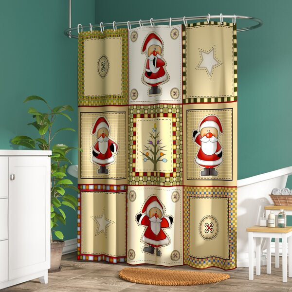 Americana Holiday Shower Curtain by The Holiday Aisle