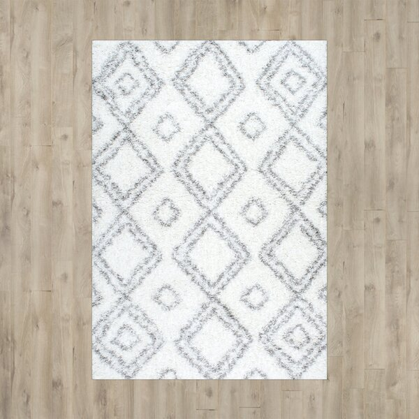 Baxley White Area Rug by Mercury Row