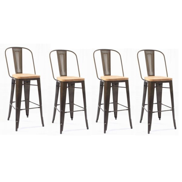Luby 30 Bar Stool (Set of 4) by Gracie Oaks