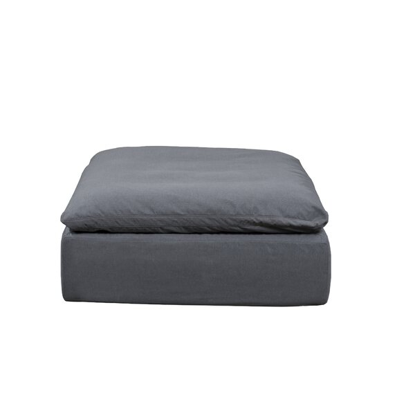 Mielke Box Cushion Ottoman Slipcover by Latitude Run
