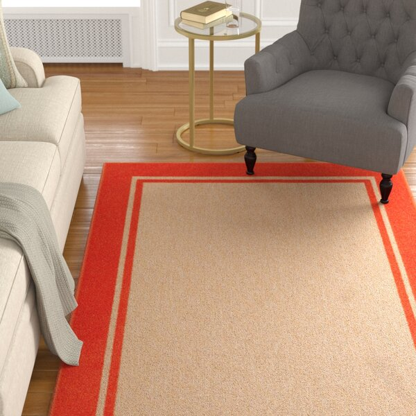 Barker Sand/Orange Indoor/Outdoor Area Rug by Sol 72 Outdoor