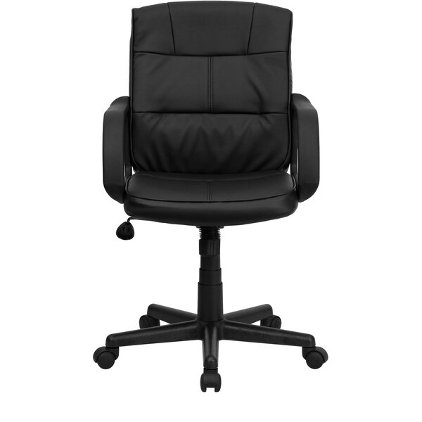 Embroidered Mid-Back Swivel with Arms Task Chair
