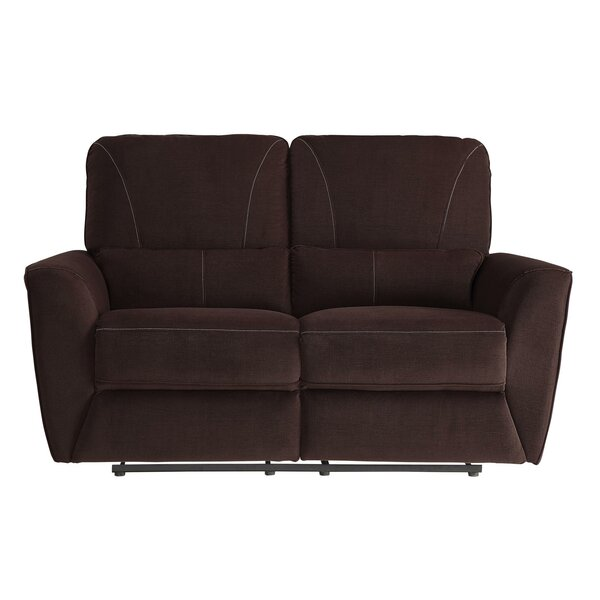 Huxley Upholstered Plush Cushioned Dual Recliner Loveseat by Red Barrel Studio