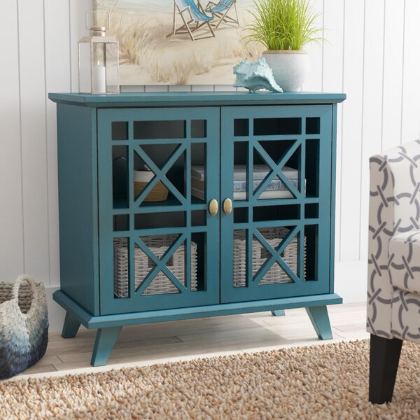 Matheus Fretwork 2 Door Accent Cabinet by Beachcrest Home