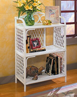 Pole Rattan Standard Bookcase by Wicker Warehouse