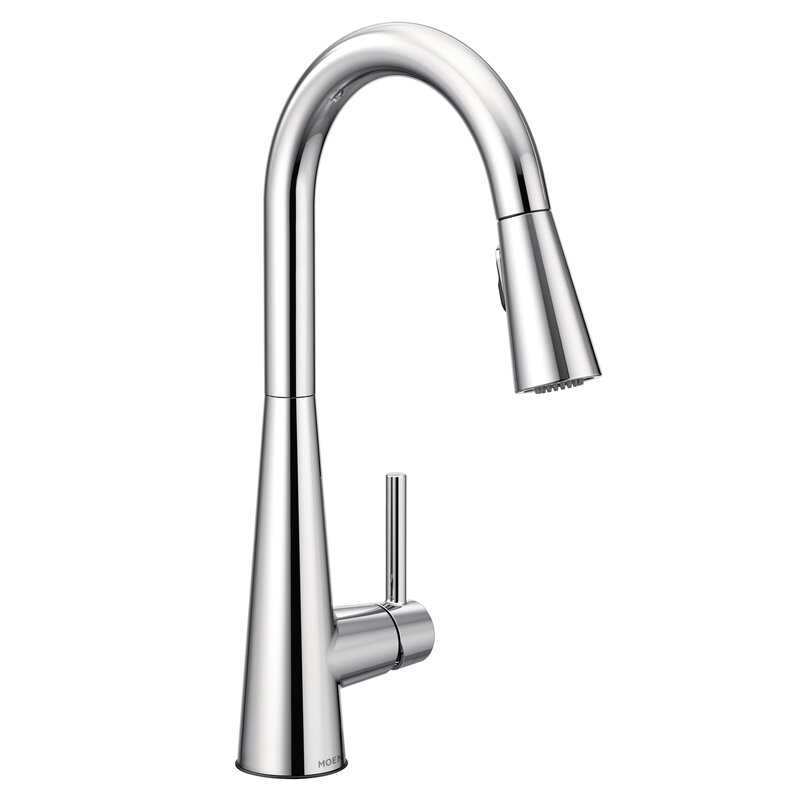 Sleek Pull Down Single Handle Kitchen Faucet With Duralock™, Power Clean™  And Reflex