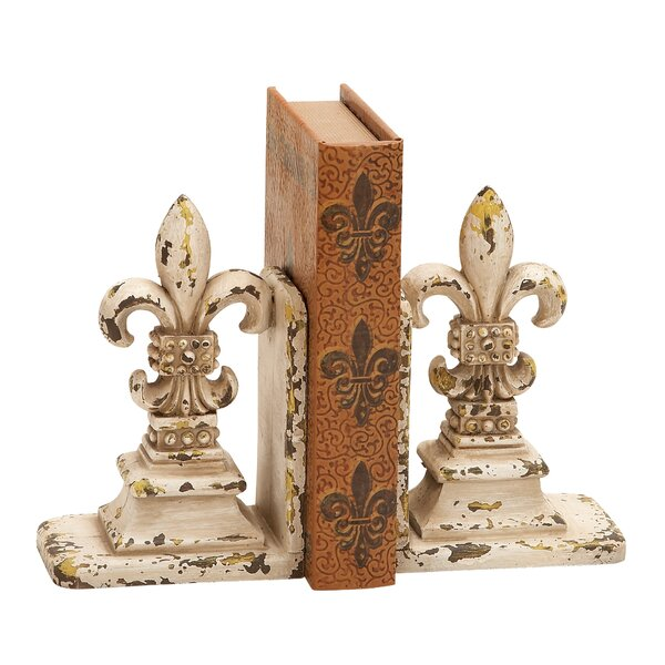 Dijon Fleur de Lis Bookend by Lark Manor