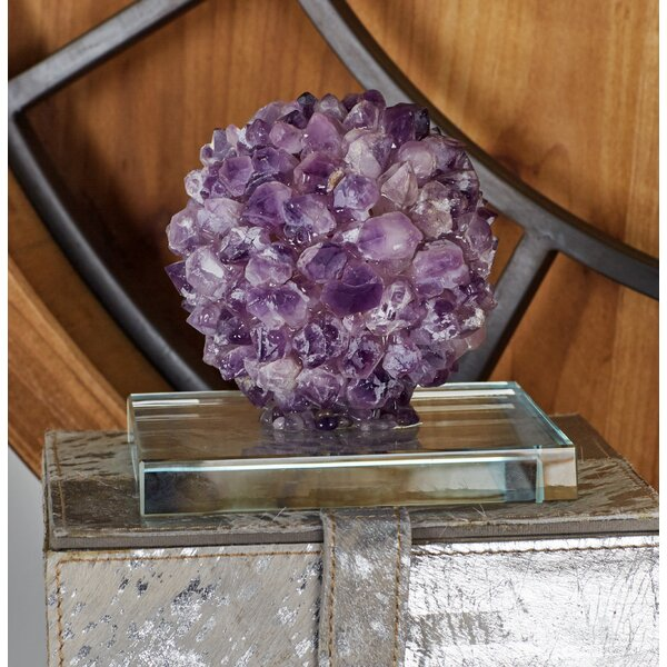 Amethyst Glass Gem Sculpture by Cole & Grey