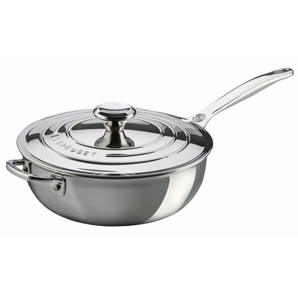 Stainless Steel 3.5 Qt. Saucier Pan with Lid by Le Creuset