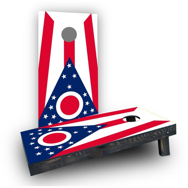 Ohio State Flags Cornhole (Set of 2) by Custom Cornhole Boards