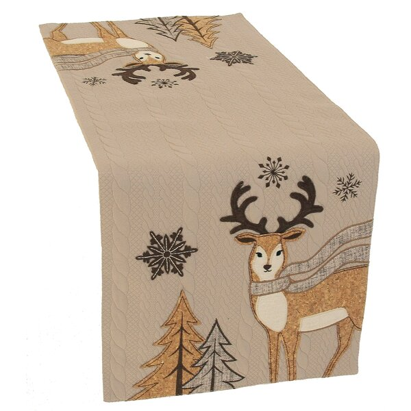 Cozy Reindeer Table Runner by Manor Luxe