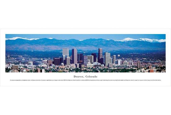 US Skyline Denver, Colorado by Stephen Gjevre Photographic Print by Blakeway Worldwide Panoramas, Inc