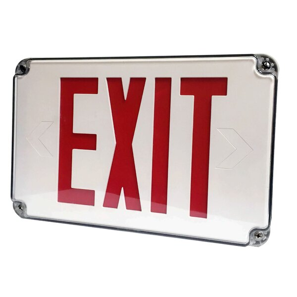 Led Wet Location Legend Exit Sign By Morris Products.
