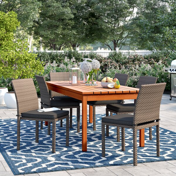 Brighton 7 Piece Dining Set With Cushions by Sol 72 Outdoor