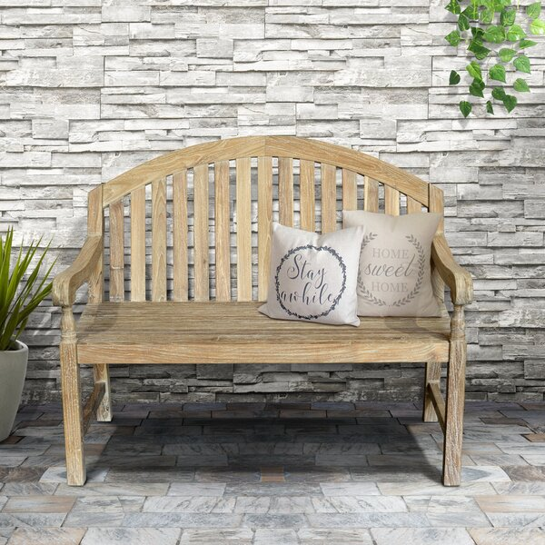 Mcleod Outdoor Wooden Garden Bench by Rosecliff Heights