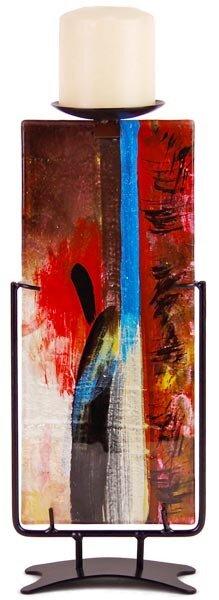 Glass Candlestick by Jasmine Art Glass