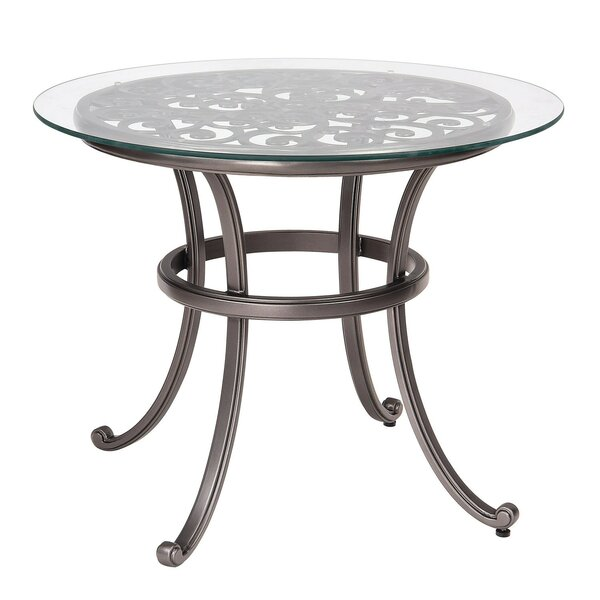 New Orleans Bistro Table with Glass Top (Set of 2) by Woodard
