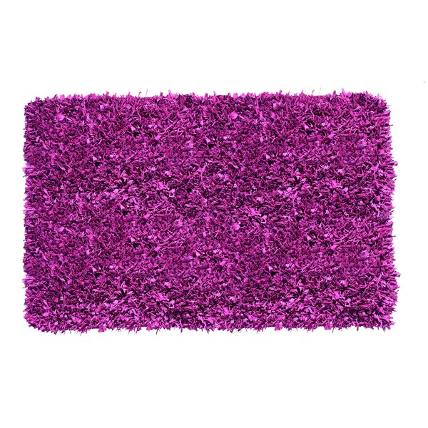 Kaylyn Hand-Knotted Purple Area Rug by Ebern Designs