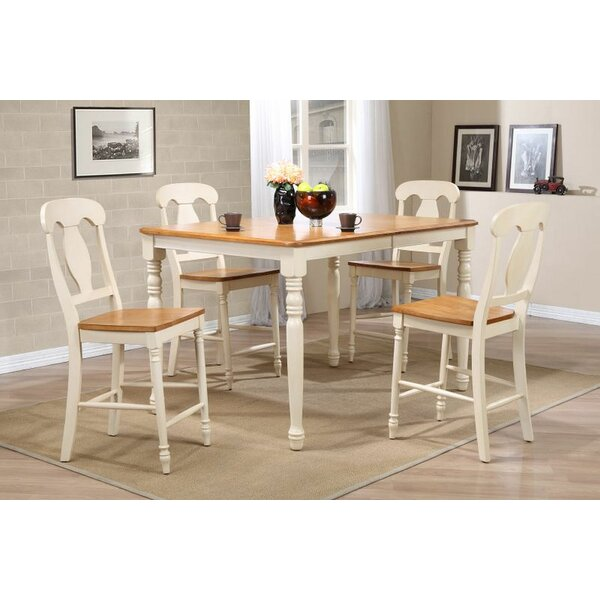 Adlingt 5 Piece Extendable Solid Wood Dining Set by Red Barrel Studio Red Barrel Studio