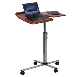 Mobile Adjustable Laptop Cart by Offex