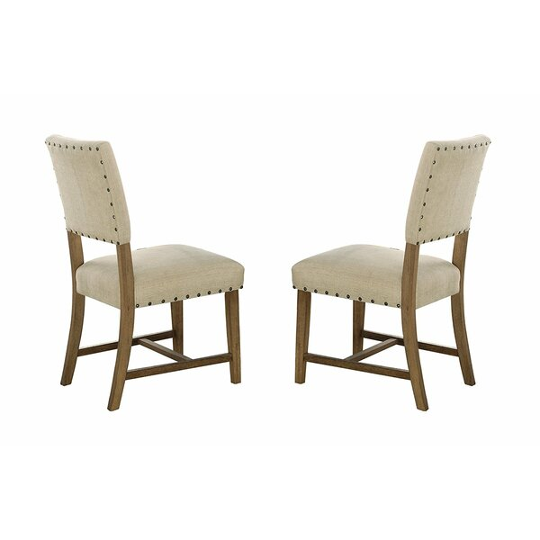 Elissa Wood and Fabric Upholstered Dining Chair (Set of 2) by Gracie Oaks