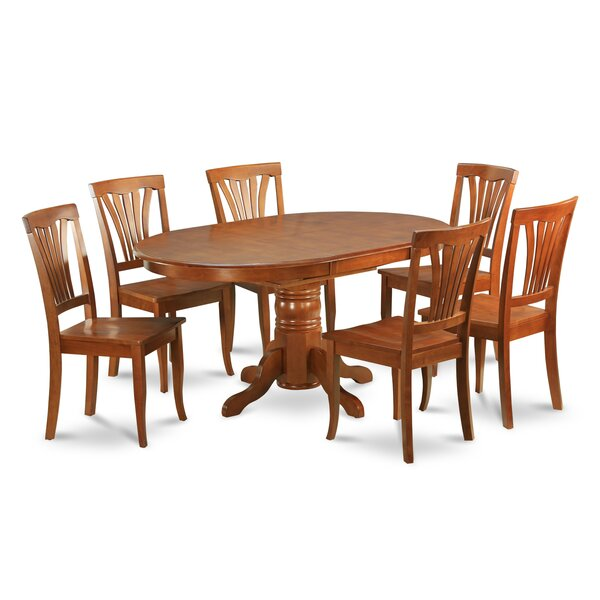 Square 5 Piece Solid Wood Dining Set by August Grove