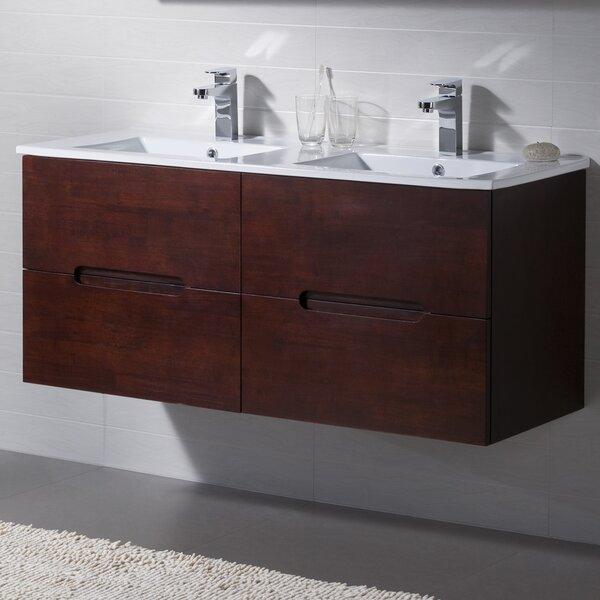 Elton 48 Wall-Mounted Double Bathroom Vanity Set by INOLAV