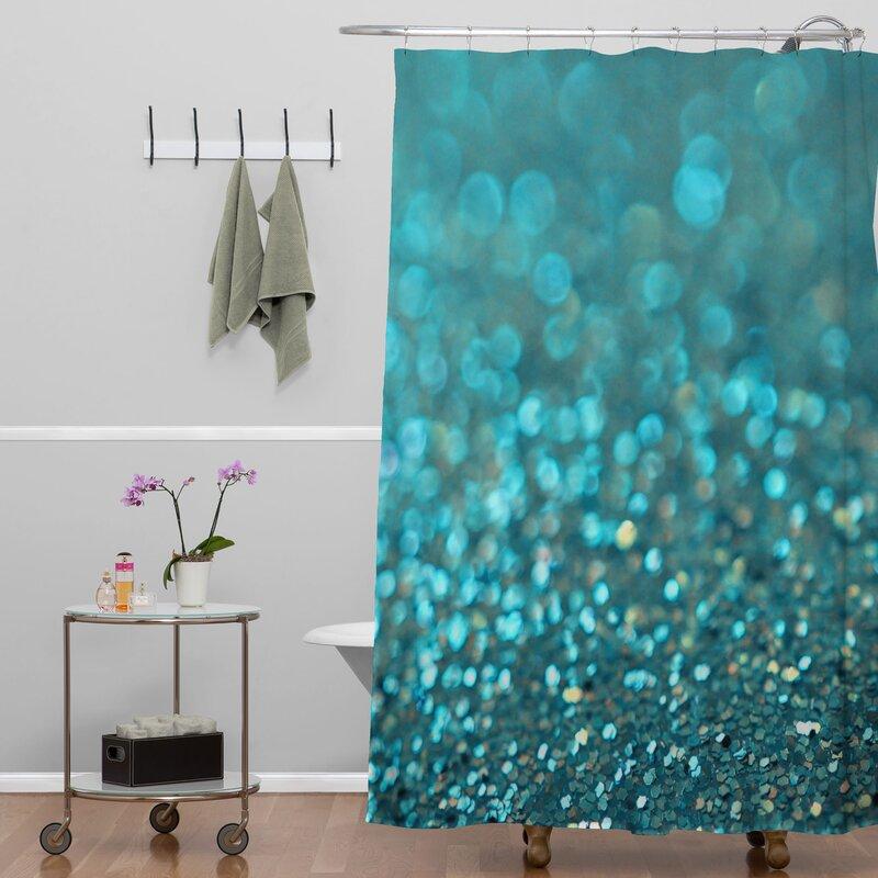 Brayden Studio Covell Aquios Extra Long Shower Curtain & Reviews ...