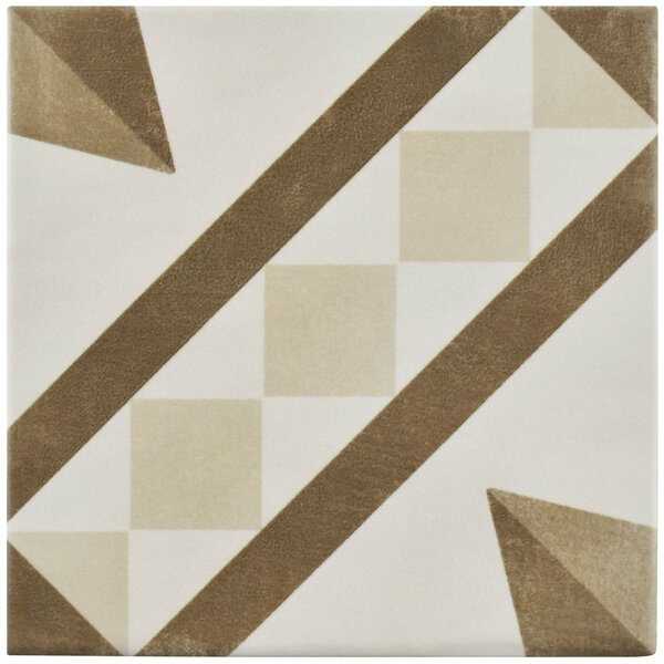 Haute 5.88 x 5.88 Ceramic Field Tile in Brown/Beige by EliteTile