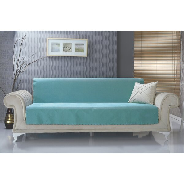 Diamond Box Cushion Sofa Slipcover by Charlton Hom