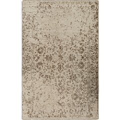 Jayden Hand-Knotted Dark Brown/Khaki Area Rug by Bungalow Rose