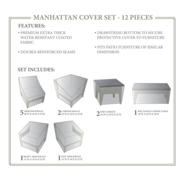 Manhattan Winter 12 Piece Cover Set by TK Classics