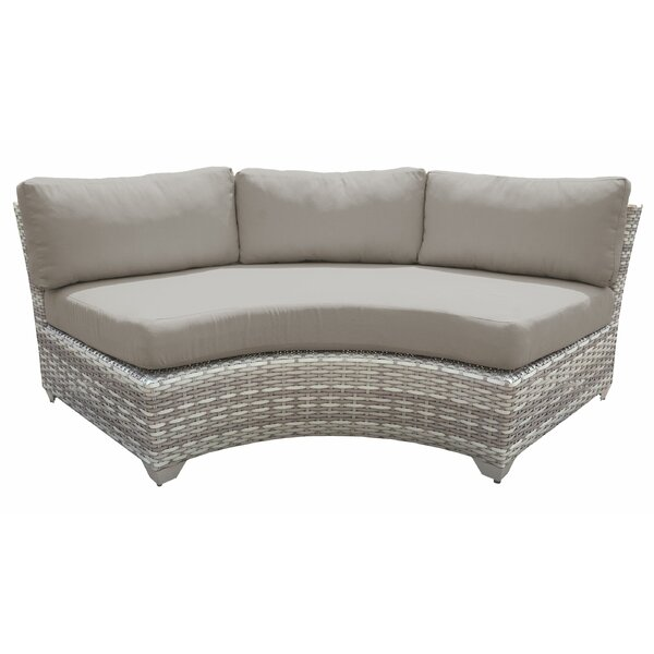 Genevieve Patio Sofa with Cushions by Rosecliff Heights