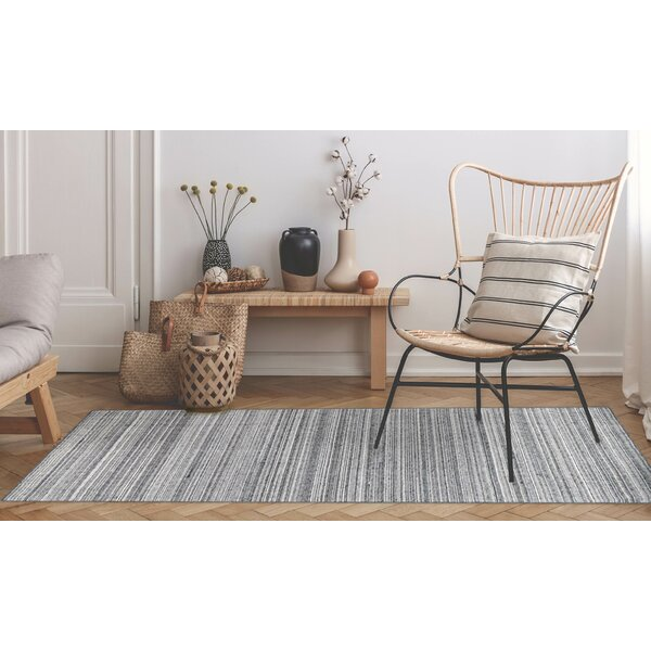 Ryan Stripe Handwoven Flatweave Gray Indoor/Outdoor Area Rug by Gracie Oaks Gracie Oaks