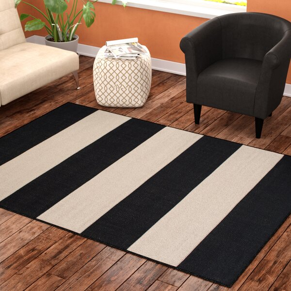 Mckinney Black Indoor/Outdoor Area Rug by Ebern Designs