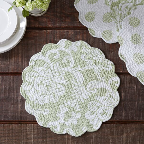 Harpole Round Quilted Placemats (Set of 6) by Birch Lane™