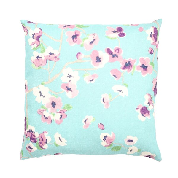 Vincennes Sakura Floral Print Square Throw Pillow by Alcott Hill