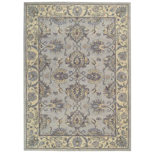 Poulos Hand-Tufted Gray/Ivory Area Rug by One Allium Way