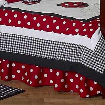 Little Ladybug Toddler Bed Skirt by Sweet Jojo Designs