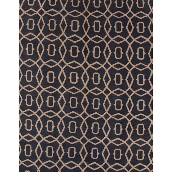 Pugh Traditional Moroccan Oriental Hand-Knotted Wool Beige/Blue Area Rug by Everly Quinn