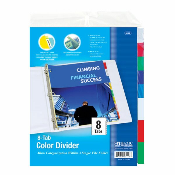 3-Ring Binder Dividers by Bazic